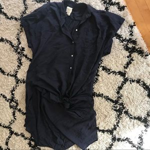 Free People Full Length Button Down Tunic Dress